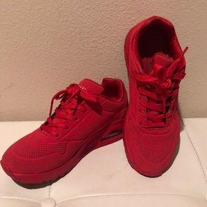 Skechers Red Unos Sneakers